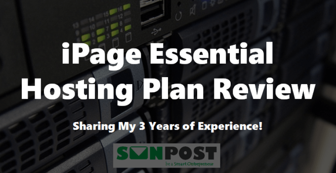 ipage essential hosting plan review