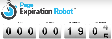 page expiration robot countdown timer app