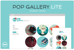 cute tumblr theme pop gallery lite