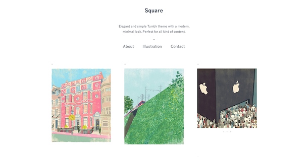 square tumblr theme