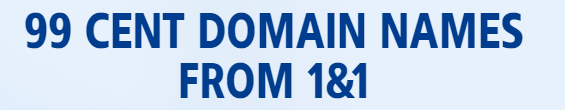 99 cents domain of 1and1