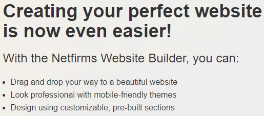 netfirms website builder