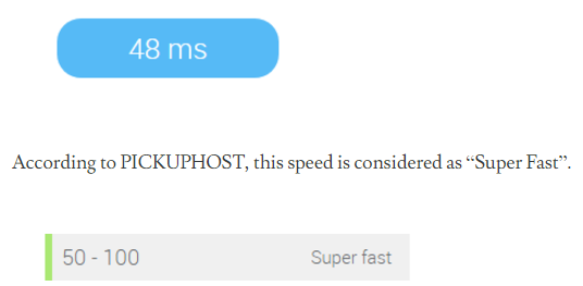 server speed of bluehost