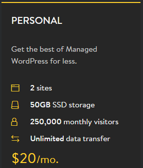 personal wp hosting