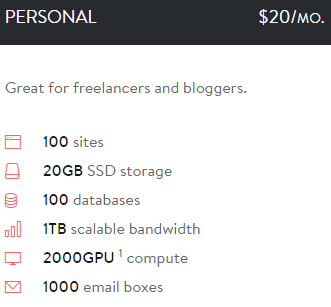 personal shared hosting