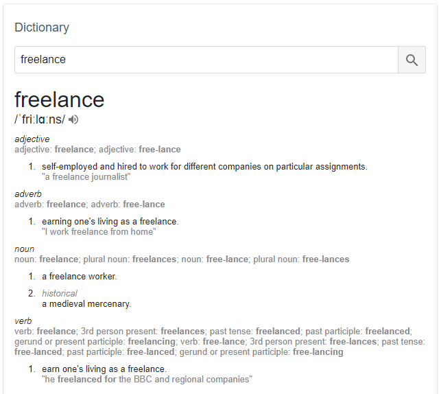 Freelance meaning