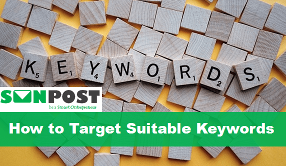 how to target suitable keywords