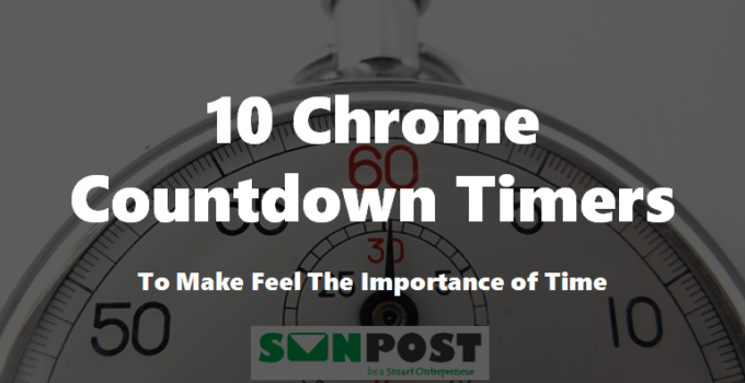 chrome countdown timer