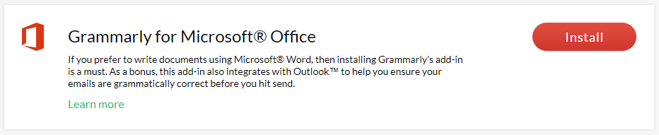 grammarly for microsoft office