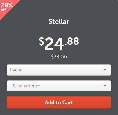 Namecheap Stellar Hosting Plan